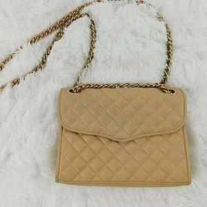 Rebecca Minkoff Small Nude Leather Shoulder Bag